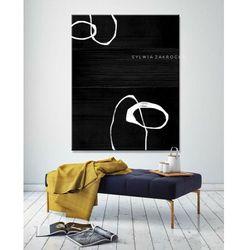 Artystyczna czern obrazy do salonu nowoczesnego rabat 10%
