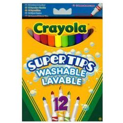 Crayola Flamastry spieralne pastelowe Supertips 12 szt. Darmowy odbiór w niemal 100 księgarniach!