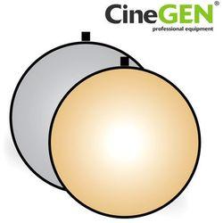 Blenda okrągła, srebrno-złota, 110cm, CineGEN®