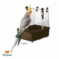 Pozostałe zabawki, Ferplast Basenik dla papug długoogonowych - Dł. x szer. x wys.: 23 x 15 x 24 cm | DARMOWA Dostawa od 99 zł