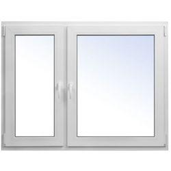 Okno PCV rozwierno-uchylne + rozwierne 1465 x 1135 mm lewe białe