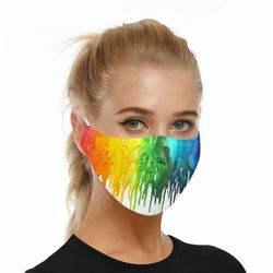 Wielorazowa maska maseczka ochronna na twarz z nadrukiem i filtrem PM2.5 (wzór 2) - 2