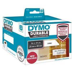 Oryginalne etykiety polipropylenowe DYMO LW 1933081 durable 89mm x 25mm białe/czarny nadruk