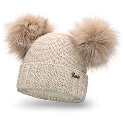 Zimowa czapka damska PaMaMi - Beżowy - Beżowy
