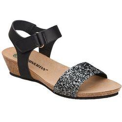 Sandały buty Dr Brinkmann 710783-1 Czarne - Czarny ||Brokat ||Multikolor