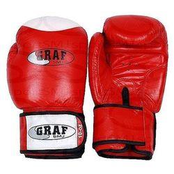 Rękawice bokserskie RED SMJ 3640 Skóra cielęca