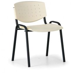 Krzesło konferencyjne Tony, czerwony - kolor konstrucji czarny