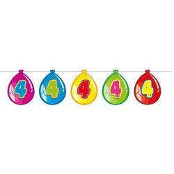 Baner flagi baloniki z cyfrą 4 - 10 m - 1 szt.