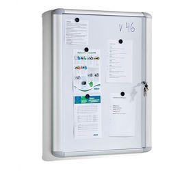 Gablota informacyjna HAZEL, do użytku we wnętrzach, zamykana, 815x995x57 mm