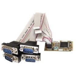 StarTech.com 4 Port RS232 Mini PCI Express Serial Card w/ 16650 UART - seriell adapter