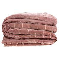 Narzuty, HKliving Miękka bawełniana narzuta na łóżko w kolorze brudno różowym-nude (230x250) TTS1015