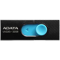 ADATA FLASHDRIVE UV220 32GB USB 2.0 BLACK/BLUE AUV220-32G-RBKBL - odbiór w 2000 punktach - Salony, Paczkomaty, Stacje Orlen