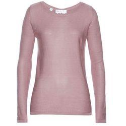 Sweter z odkrytymi ramionami bonprix stary jasnoróżowy melanż