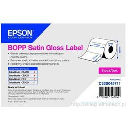 BOPP Satin Gloss Label - Die-cut Roll: 76mm x 127mm, 1150 etykiet