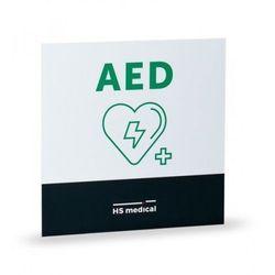 Tablica informacyjna AED Mała