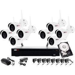 Monitoring 8 kamer bezprzewodowy WIFI: Rejestrator, 8 Kamera 2MP, 1TB
