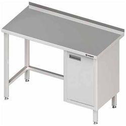 Stół przyścienny z szafką z drzwiami skrzydłowymi po prawej stronie 1400x600x850 mm | STALGAST, 980496140