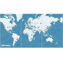 Dekoracja ścienna XL Pin World niebieska