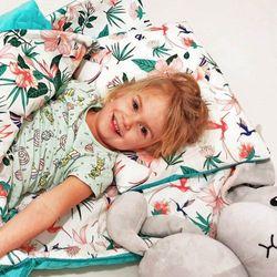 Śpiworek przedszkolaka koliberki velvet wiosenno letni + worek