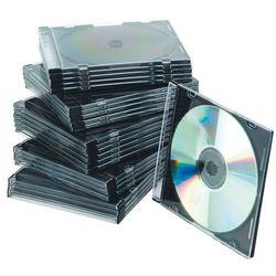 Pudełko na płytę CD/DVD Q-CONNECT, slim, 25szt., przeźroczyste