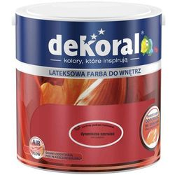 Farba Lateksowa Akrylit W Kolor Dynamiczna Czerwień 2.5l Dekoral
