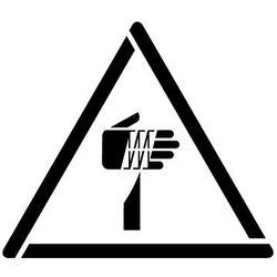 Szablon do malowania Znak ostrzeżenie przed ostrymi elementami GW022- 17x20 cm