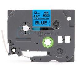 Taśma Brother TZE-S531 mocny klej niebieska/czarny 12mm x 8m zamiennik