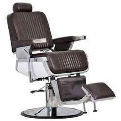 Fotel Fryzjerski Męski Barber Brązowy- Barber Shop