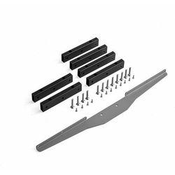 Dostawka do stołu konferencyjnego AUDREY + MODULUS z ramą T, 3200+4000 mm, srebrny