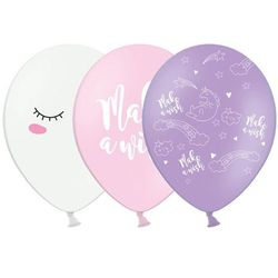 Balony pastelowe Jednorożec - 30 cm - 5 szt.