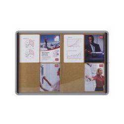 Gablota Nobo wewnętrzna 18 x A4 korkowa (drzwi przesuwane)