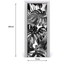 Naklejki na ściany, Okleina samoprzylepna na drzwi Tropikalne liście