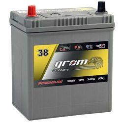 Akumulator GROM Premium 38Ah 340A EN Japan Lewy Plus DTR