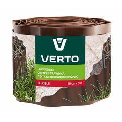 Obrzeże do trawników VERTO 15G513 Brązowy (10 cm x 9 m)