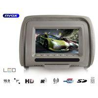 """Monitory samochodowe, Zagłówek multimedialny z ekranem 7"""" USB SD AV IR FM 12V oraz maskownicą"""