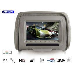 """Zagłówek multimedialny z ekranem 7"""" USB SD AV IR FM 12V oraz maskownicą"""