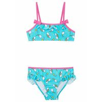 Stroje kąpielowe dla dzieci, Bikini dziewczęce (2 części) bonprix morski z nadrukiem