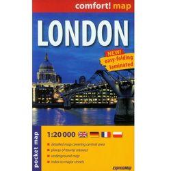 London Laminowany Plan Miasta 1:20 000 - Mapa Kieszonkowa (opr. miękka)