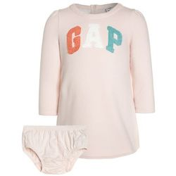 GAP ARCH BABY SET Sukienka letnia new sheer pink