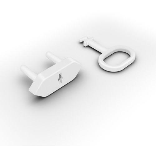 Zabezpieczenia na drzwi, Zabezpieczenia gniazdek zaślepki 8szt + klucz REER
