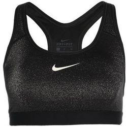 Nike Performance CLASSIC SPARKLE Biustonosz sportowy black/metallic silver/white