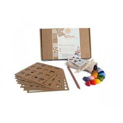 Zestaw Rubeez Artbox (16 kredek, 8 szablonów, tęczowy ołówek) Crayon Rocks