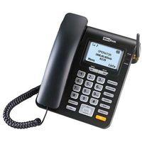 Telefony stacjonarne, Telefon MAXCOM MM28DHS Czarny