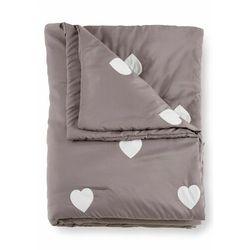 Narzuta na łóżko w serduszka bonprix szary