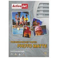 Papiery fotograficzne, Activejet Papier Foto Matowy A4 (AP4-105M100) 100 ark Darmowy odbiór w 21 miastach!