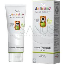 Dentissimo Junior Toothpaste - Pasta dla dzieci powyżej 6 lat z naturalnym jabłkiem, 50 ml