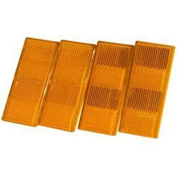 Zestaw: Cztery lampy odblaskowe pomarańczowe do przyczepki