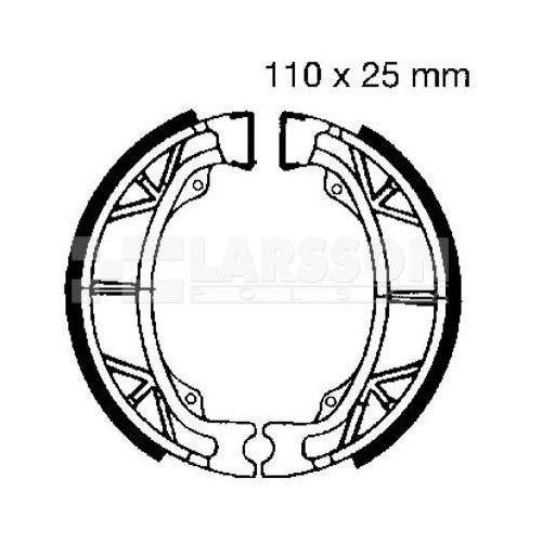 Szczęki hamulcowe do motocykla, Szczęki hamulcowe komplet EBC 303WG 4200396 QM50QT-2, ZS50QT-4, SYM Mask 50