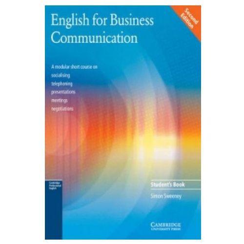 Książki do nauki języka, English for Business Communication, Student's Book (podręcznik) (opr. miękka)