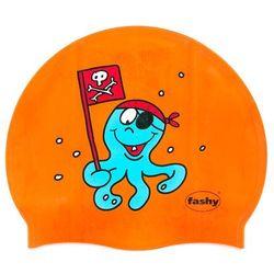 Fashy czepek silikon junior z nadrukiem 3047 pomarańcz